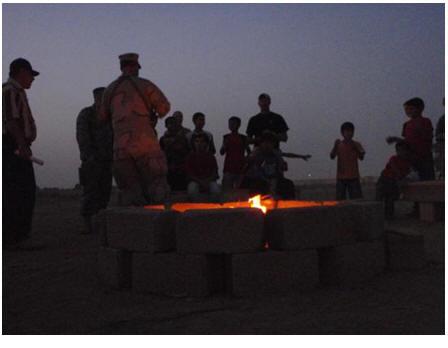 Campfire in Iraq