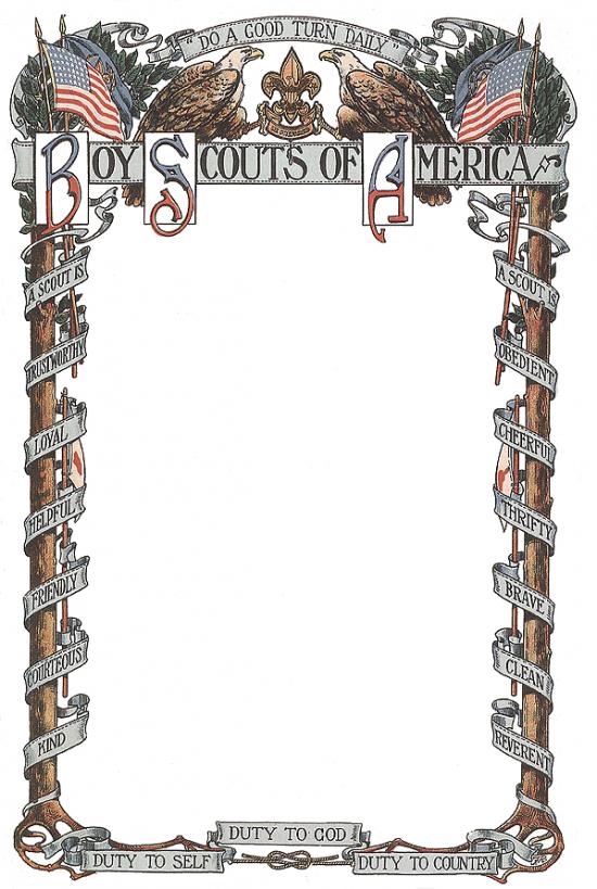 Colorized BSA Scrollwork