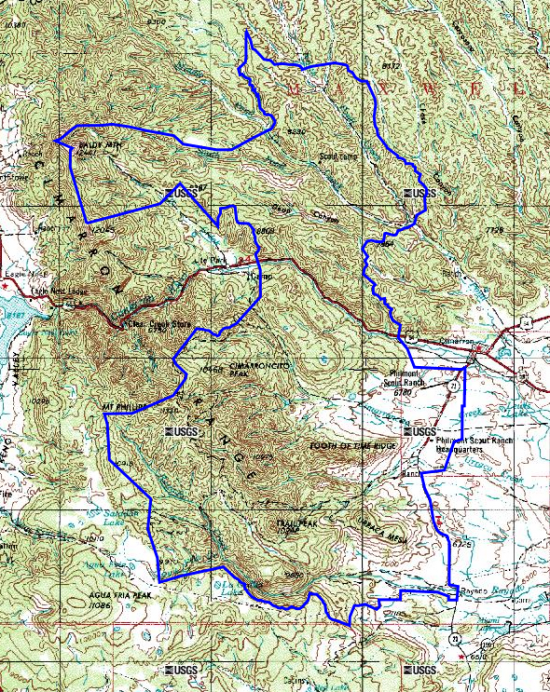 High Adventure Topo Maps Via Gmap The NetCommish - Topographical map of new mexico